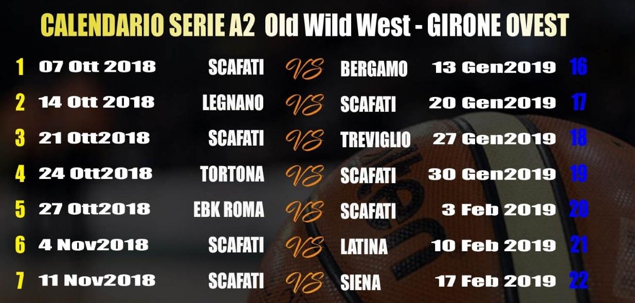 Calendario Basket A2 Ovest.Basket Givova Scafati Ecco Il Calendario Della Regular